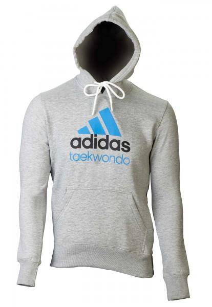 adidas Community line Hoody Taekwondo grau/solar blue