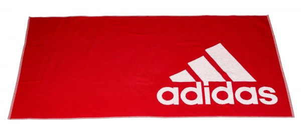 adidas Handtuch Active Towel L red/white, FJ4771