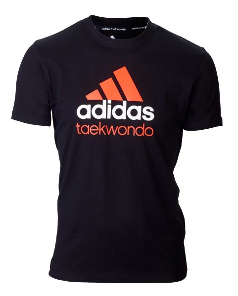 adidas Community line T-Shirt Taekwondo schwarz/orange