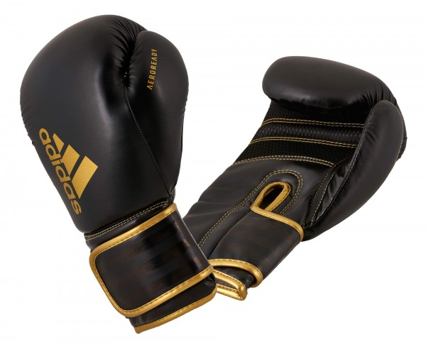 adidas Boxhandschuhe Hybrid 80, black/gold, ADIH80