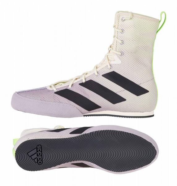 adidas Boxschuhe Box Hog 3 white/grey/green - FV6584