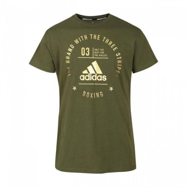 "adidas Community T-Shirt ""BOXING"" olive/gold, adiCL01B"