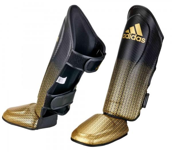 adidas Pro Kickboxing Schienbein-Spannschutz black/gold, adiKBSI300