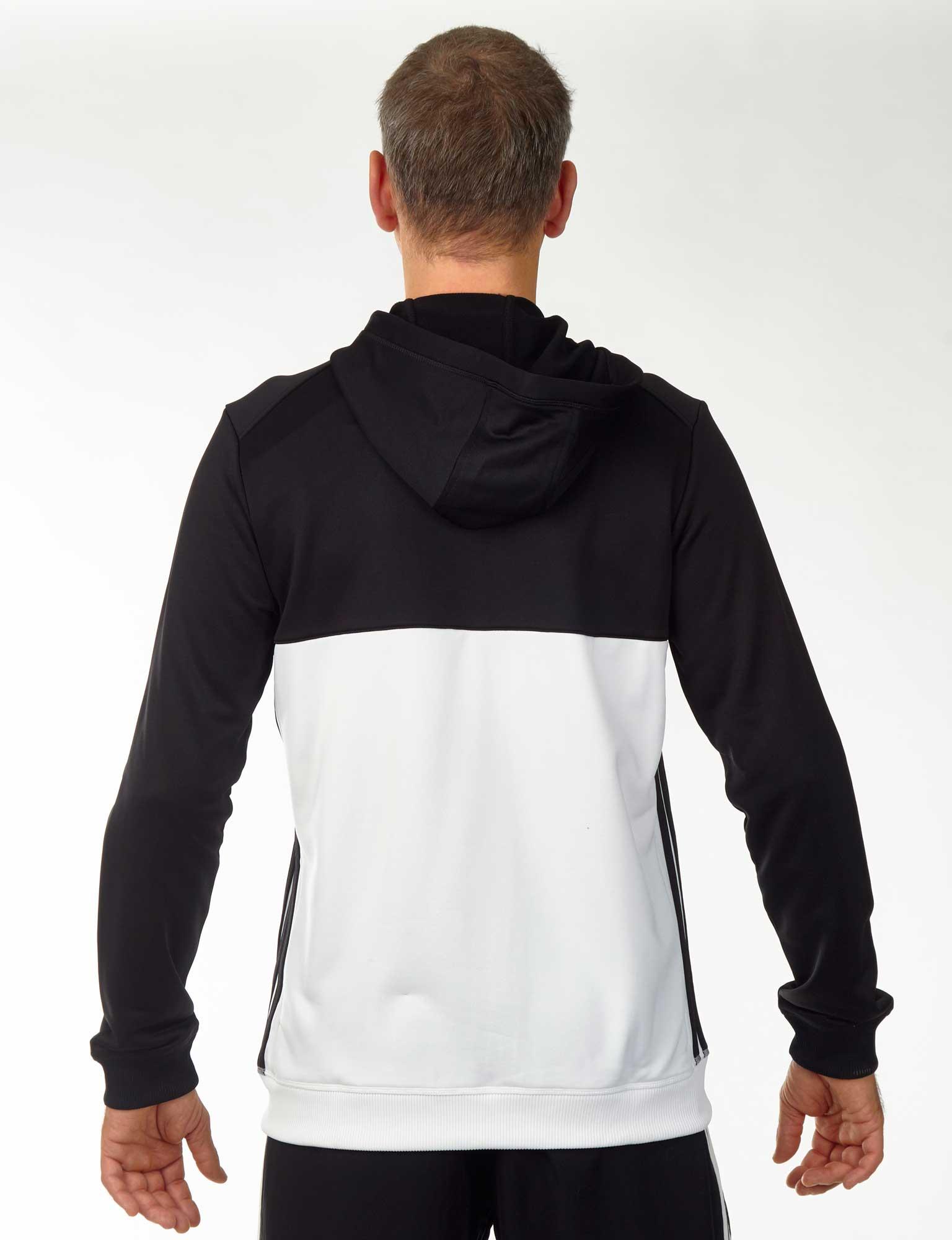 mehr Fotos 1eab9 ed467 adidas T16 Team Hoodie Männer schwarz/weiß AJ5409