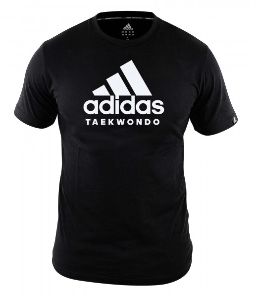"adidas Community line T-Shirt Taekwondo ""Performance"" black/white, ADICTTKD"