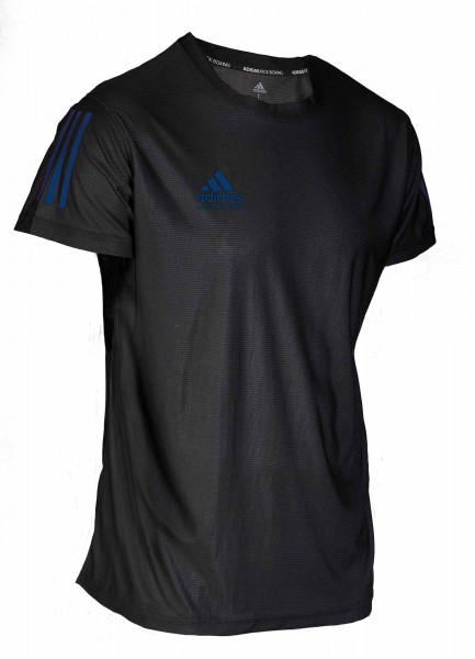 adidas Kickbox-T-Shirt Basic schwarz/blau, adiKBTS100