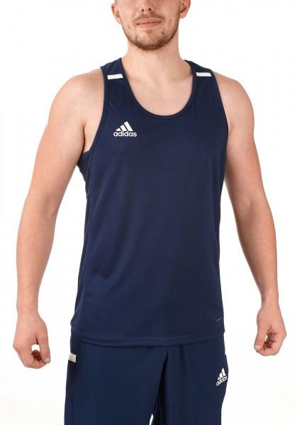 adidas T19 Singlet Shirt Männer blau/weiß, DY8802