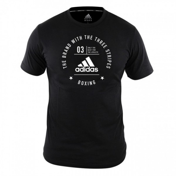"adidas Community T-Shirt ""BOXING"" black/white, adiCL01B"
