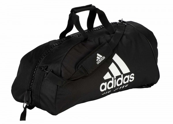"adidas 2in1 Bag ""Jiu-Jitsu"" black/white Nylon, adiACC052"