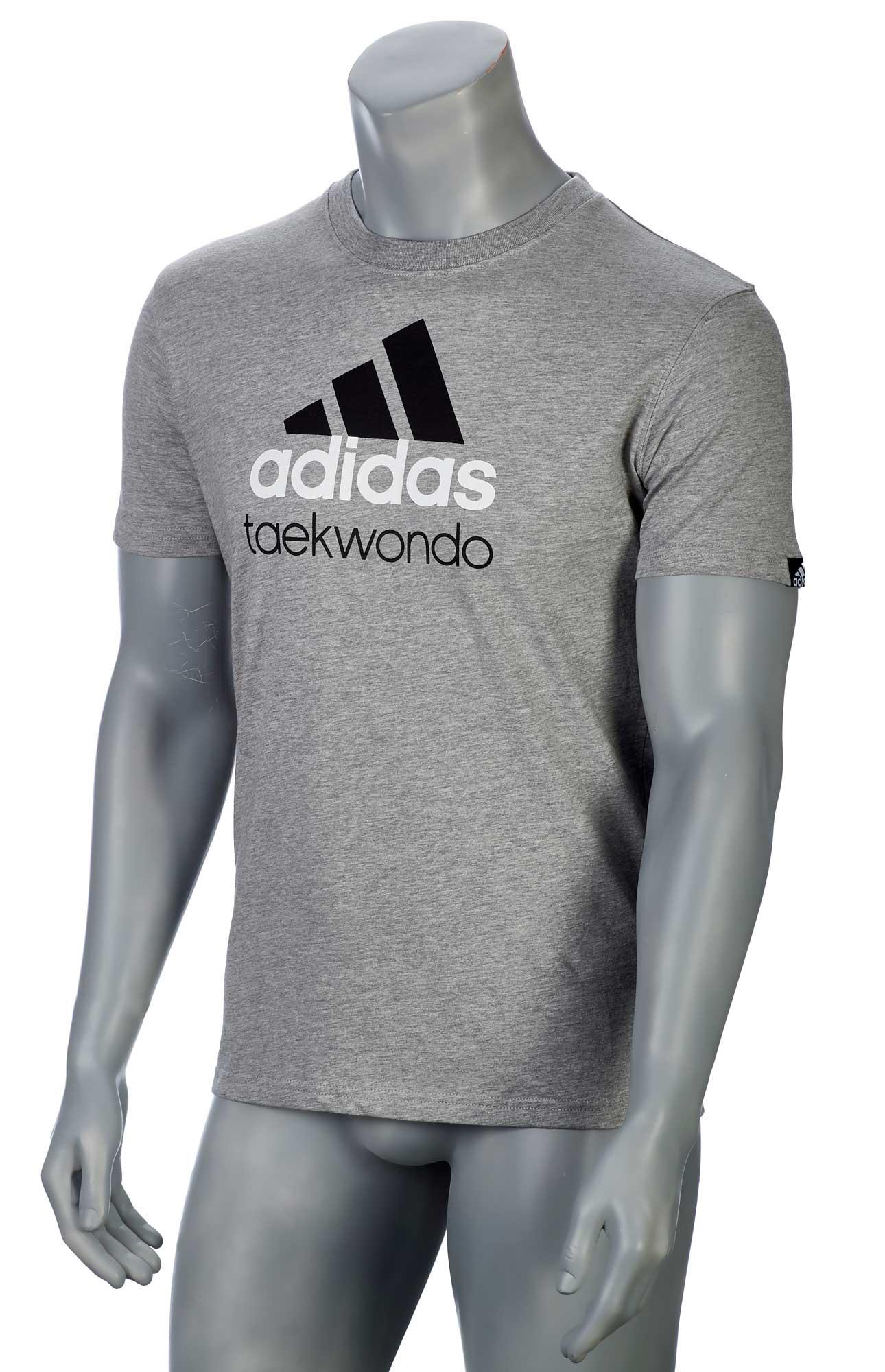 adidas Community line T Shirt Taekwondo grauschwarz