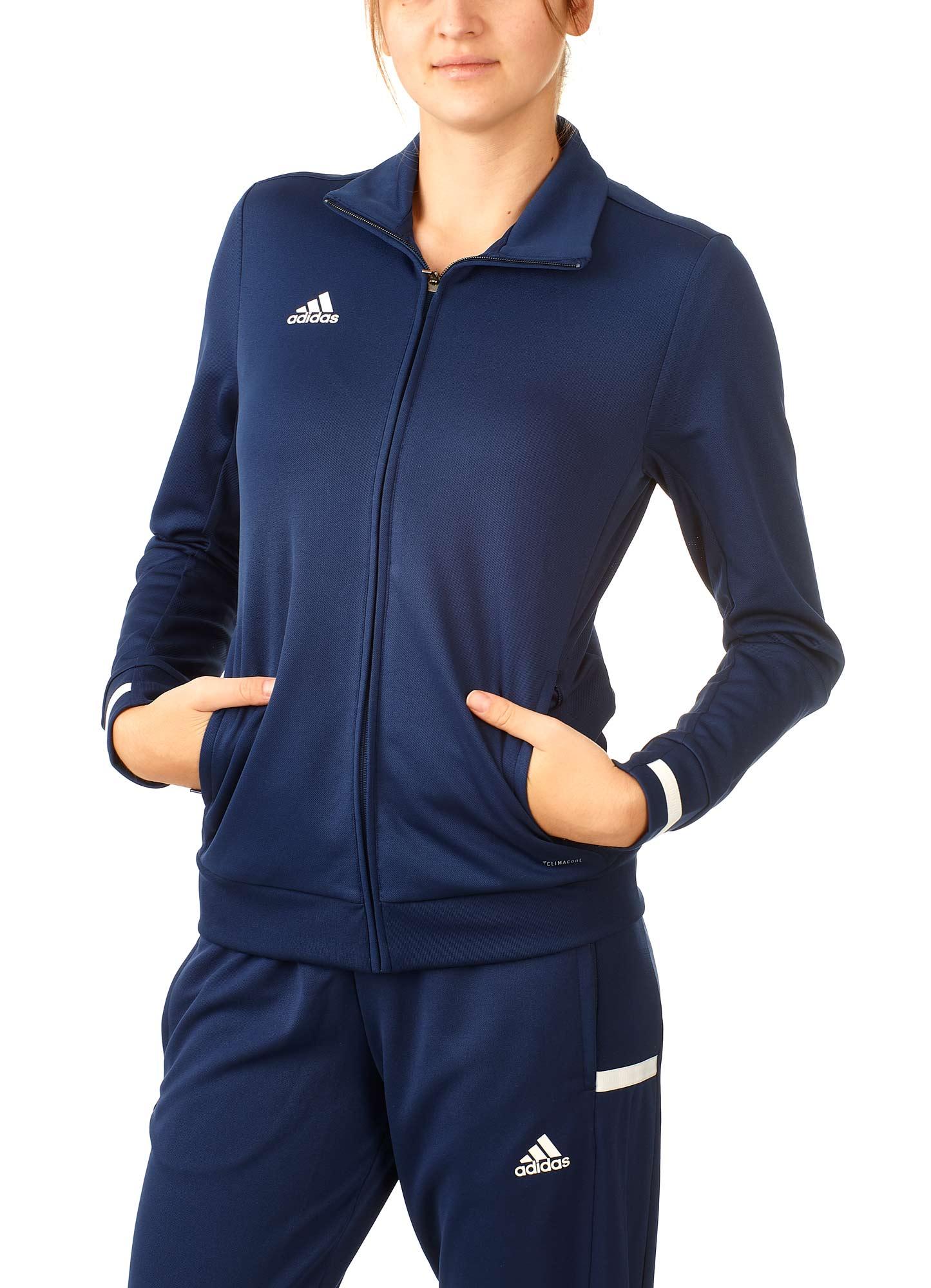 adidas T19 Trekking Jacket Damen blauweiß, DY8818