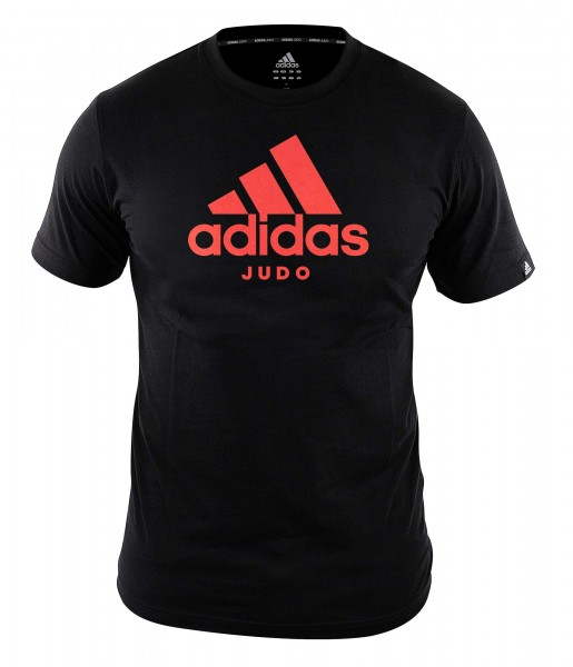 "adidas Community line T-Shirt Judo ""Performance"" black/shock red, ADICTJ"