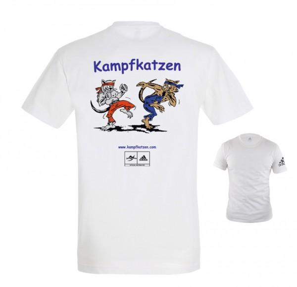Kampfkatzen adidas T-Shirt weiß/schwarz