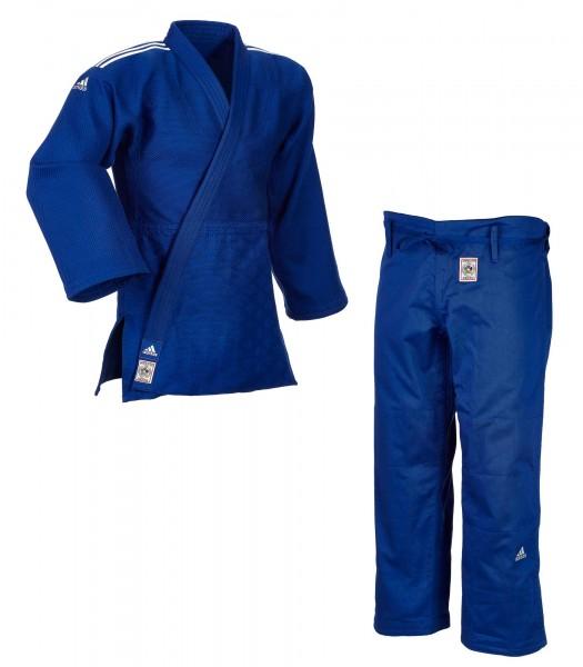 "adidas Judoanzug ""CHAMPION II"" IJF, blau/weiße Streifen, JIJFB"