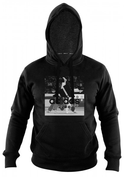 "adidas Community line Hoody Judo ""Action"" black, adiJGH02"