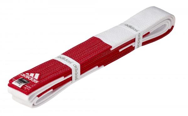 "adidas 6. Dan - Gürtel rot-weiß ""Groß-Meister"", 45 mm"