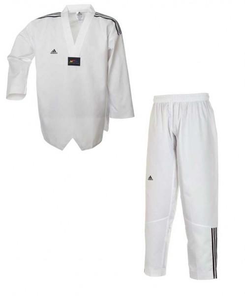 adidas Taekwondoanzug, Adi Club 3 stripes, weißes Revers, ADITCB02