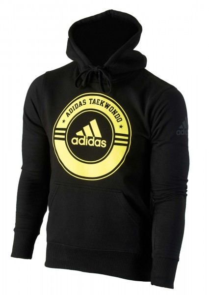 "adidas Community line Hoody Taekwondo ""Circle"" black/yellow, adiCSH05T"