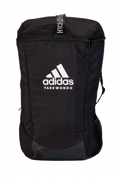 "adidas Sport Rucksack ""Taekwondo"" black/white, adiACC090"