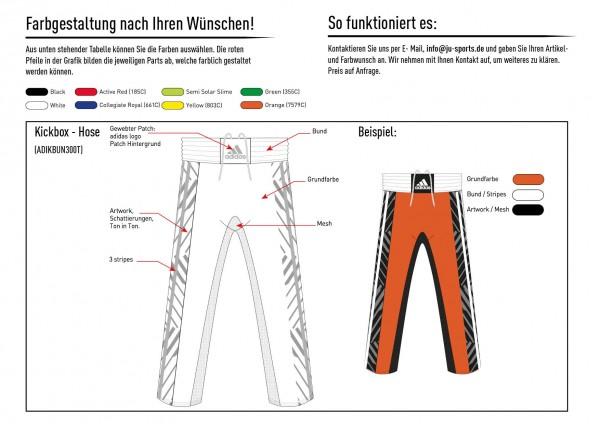 adidas Kickbox-Hose nach Kundenwunsch, adiKBUN300T