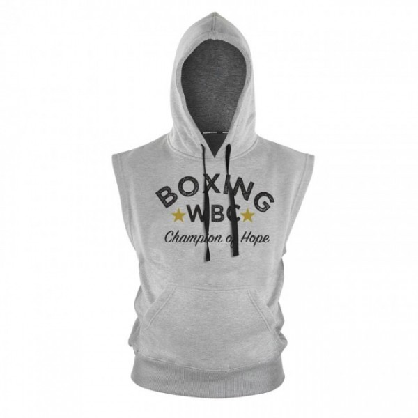 adidas WBC Boxing Hoody Sleeveless - grey, adiWBCH02