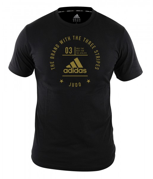"adidas Community T-Shirt Judo ""Pro"" black/gold, adiCL01J"