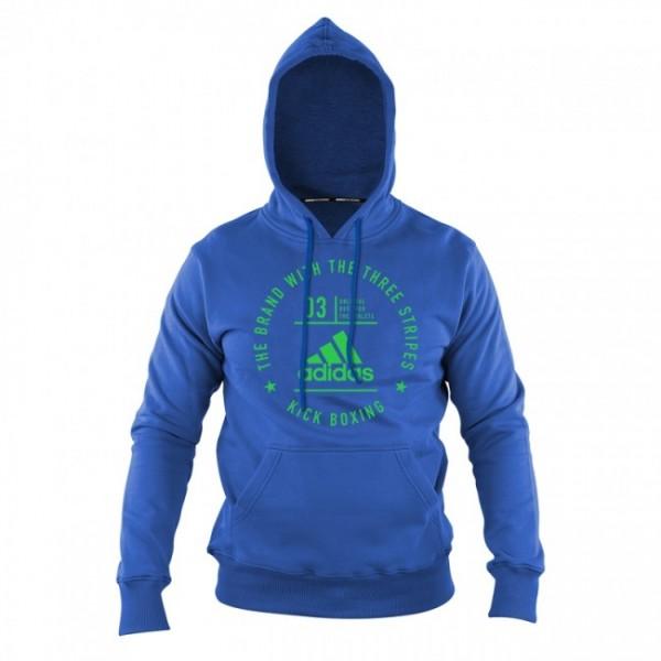 adidas Community Line Hoody Kickboxing blue/shock lime, adiCL02KB