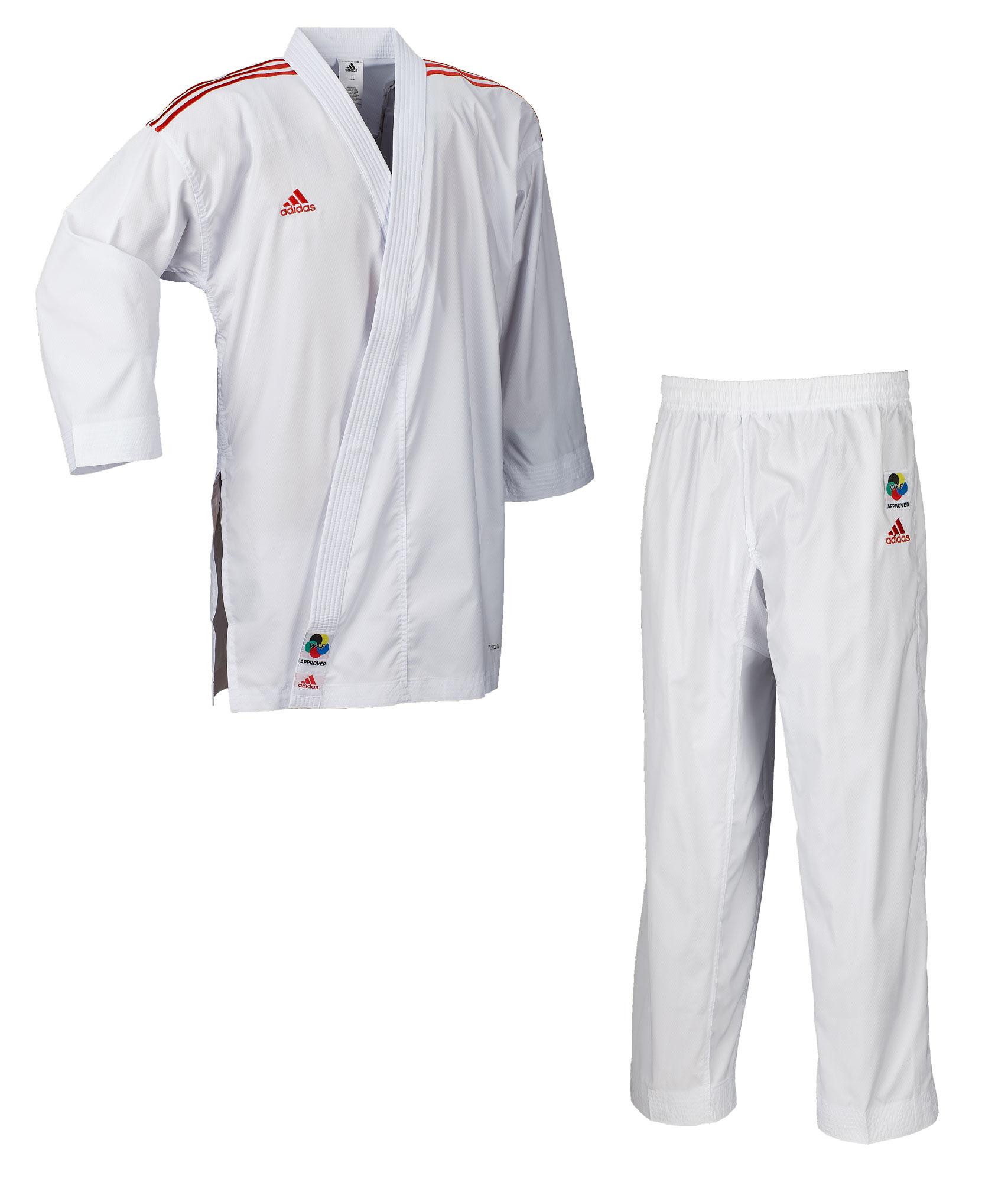 adidas Karateanzug adiLight rote Schulterstreifen, K191SKRD