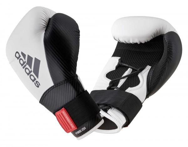 adidas Boxhandschuhe Hybrid 250, weiß/schwarz, adiH250TG