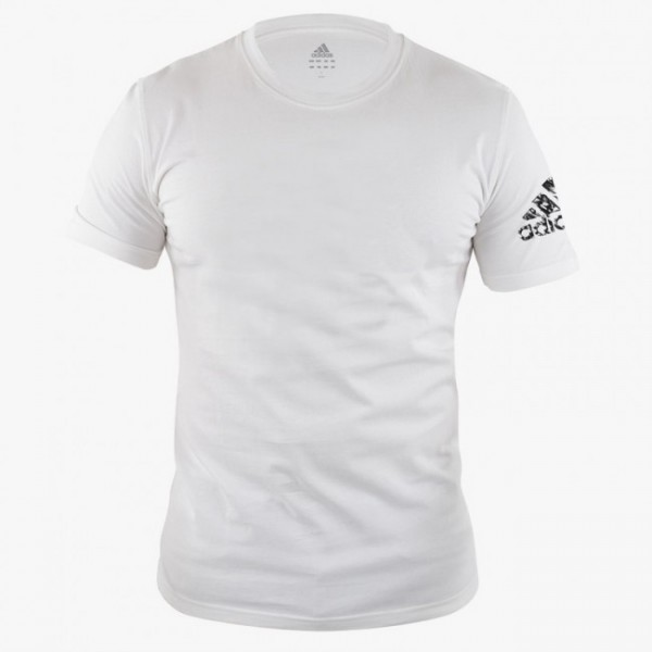 adidas Promo-T-Shirt Basic weiß/schwarz, adiTSG2/v2