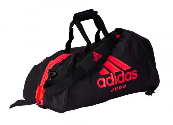 "adidas 2in1 Bag ""Judo"" black/solar red Nylon, adiACC052"