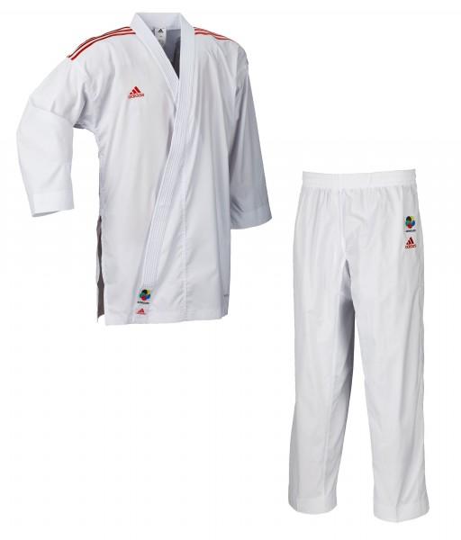 adidas Karateanzug adiLight - rote Schulterstreifen, K191SKRD