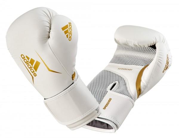 adidas Boxhandschuhe Speed 100, ADISBG100 weiß/gold