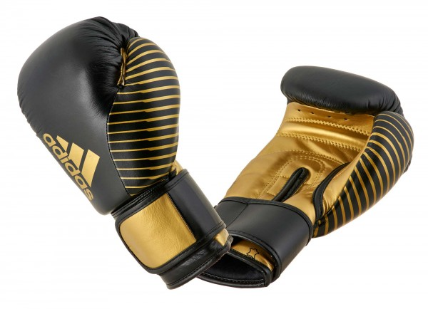 adidas Kickboxing Wettkampfhandschuh black/gold met, adiKBWKF200