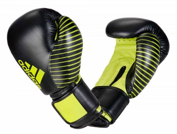 adidas Kickboxing Wettkampfhandschuh black/neon green, adiKBWKF200