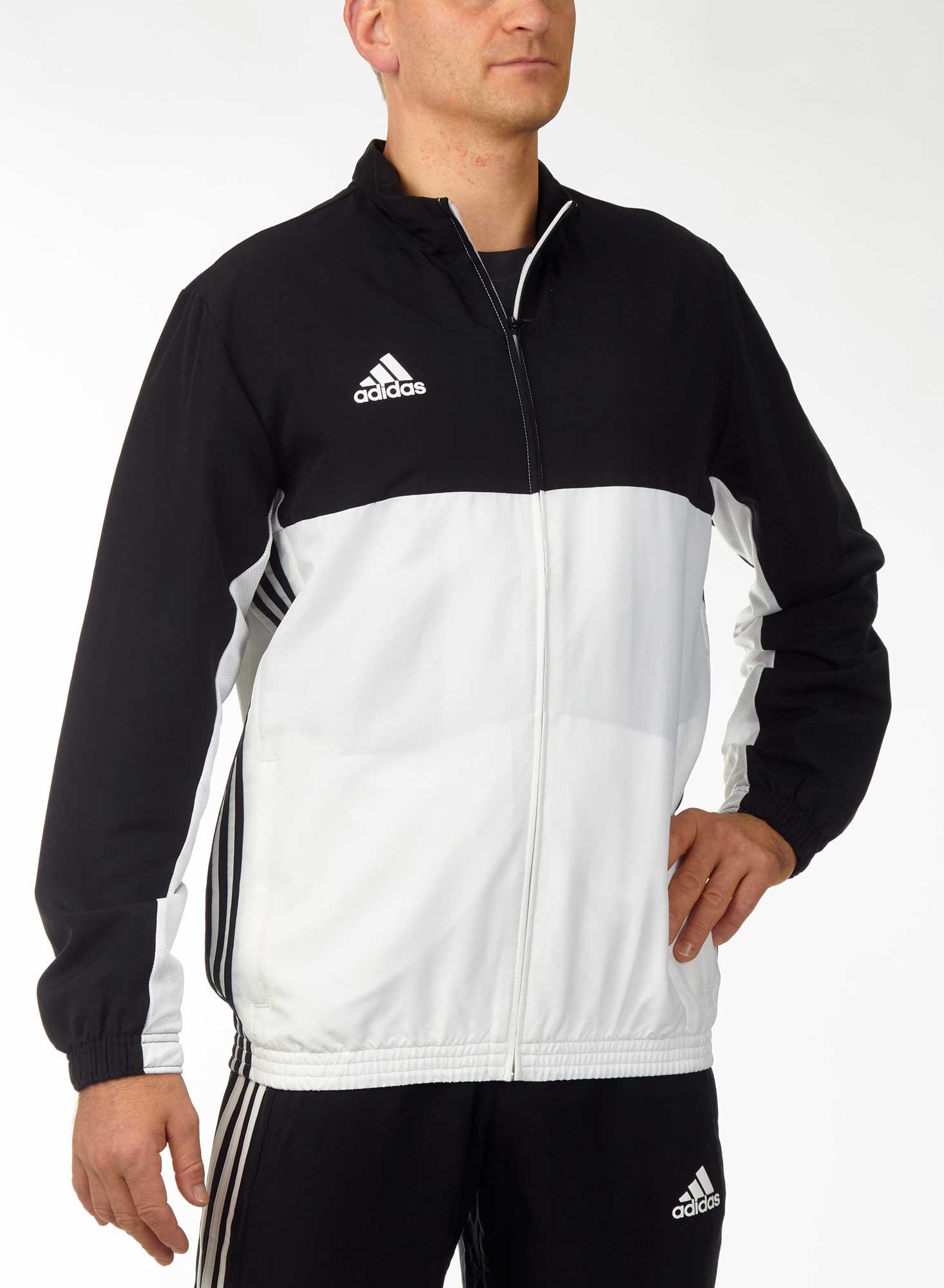 adidas T16 Team Jacket Männer schwarzweiß, AJ5382