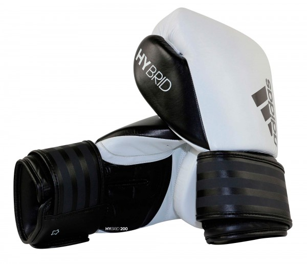 adidas Boxhandschuhe Hybrid 200, weiß/schwarz, ADIH200