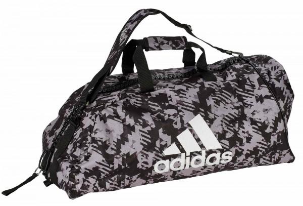 "adidas 2in1 Bag ""martial arts"" black/camo silver Nylon, adiACC058"