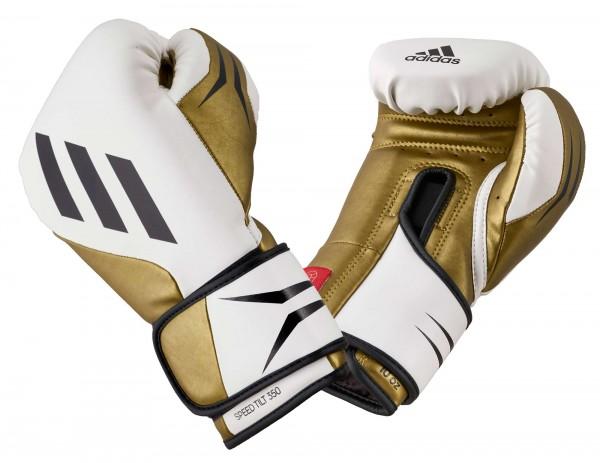 adidas Boxhandschuhe SPEED TILT 350V pro white/gold, SPD350VTG