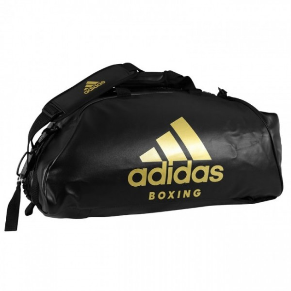 "adidas 2in1 Bag ""Boxing"" black/gold PU L, adiACC051B"