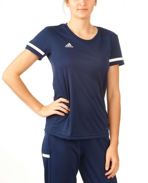 adidas T19 Shortsleeve Jersey Damen blau/weiß, DY8835