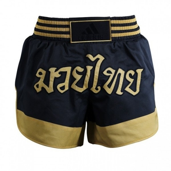 adidas Thai-Box-Shorts schwarz/gold, ADISTH02