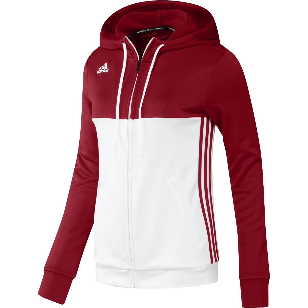 3adde65c4659ca ... Vorschau  adidas T16 Team Hoodie Damen power rot  weiß AJ5406 ...