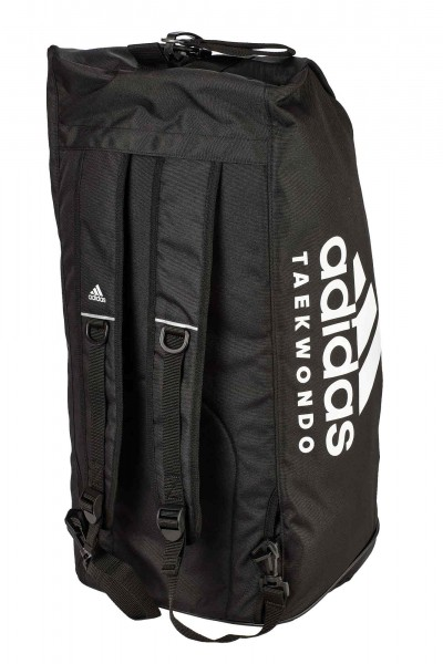 "adidas 2in1 Bag ""Taekwondo"" black/white Nylon, adiACC052"
