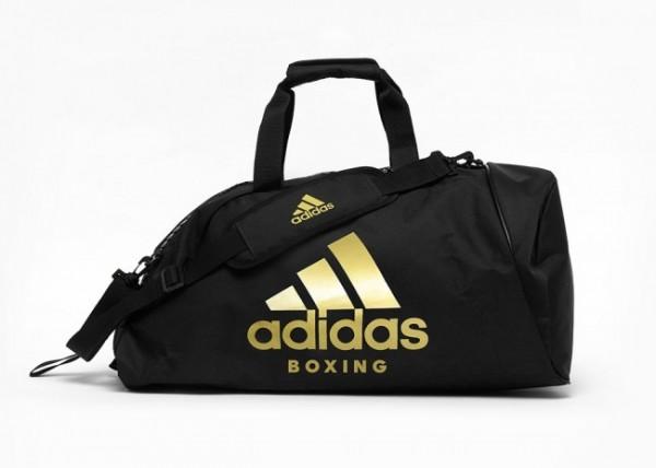 "adidas 2in1 Bag ""Boxing"" black/gold Nylon M, adiACC052B"