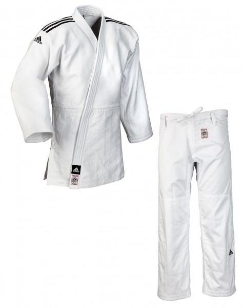 """adidas Judoanzug """"CHAMPION II"""" IJF slim cut, weiß/schwarze Streifen, JIJFS"""