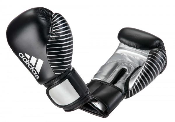 adidas Kickboxing Wettkampfhandschuh black/silver met, adiKBWKF200