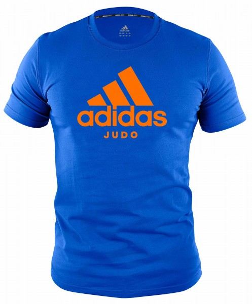 "adidas Community line T-Shirt Judo ""Performance"" blue/light orange, ADICTJ"