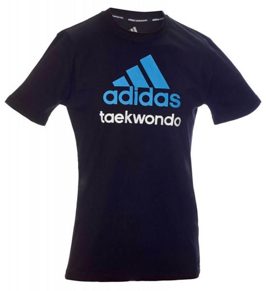 adidas Community line T-Shirt Taekwondo schwarz/solar blue