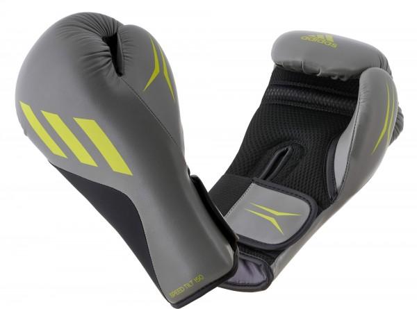 adidas Boxhandschuhe SPEED TILT 150, grau/schwarz/lime SPD150TG